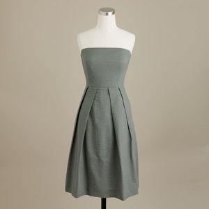 J. CREW Solid Embossed Lorelei Strapless Dress 8